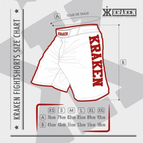 Kraken Wear MMA Broek size guide