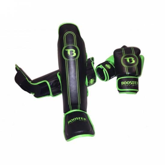 Booster BSG V6 scheenbeschermers zwart/groen